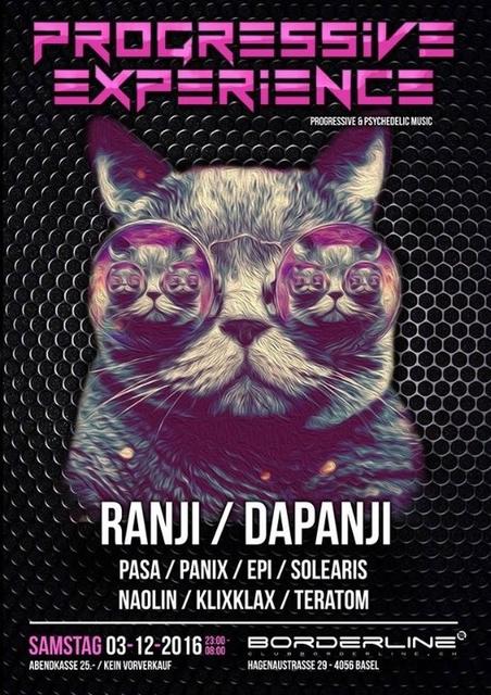 Party Flyer Progressive Experience with Ranji / Dapanji 3 Dec '16, 23:00