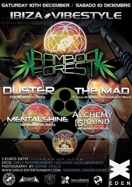 BambooForest & Duster ! Sat 10th Dec 10 Dec '16, 23:00