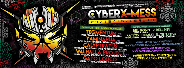 Party Flyer Cyber X-Mass 2016 24 Dec '16, 23:00