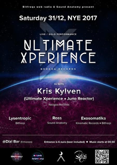 Party Flyer Ultimate Xperience Live + Kris Kylven Dj set 31 Dec '16, 23:30