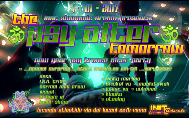 Party Flyer The °PSY AFTER° Tomorrow - New Year PsyTrance Afterparty 1 Jan '17, 06:30
