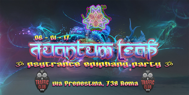 Party Flyer ·∴QuAnTuM∞LeAp∵· ∞ Psy Epiphany ∞ NAAN (UK/IT) SPECIAL GUEST 6 Jan '17, 22:00