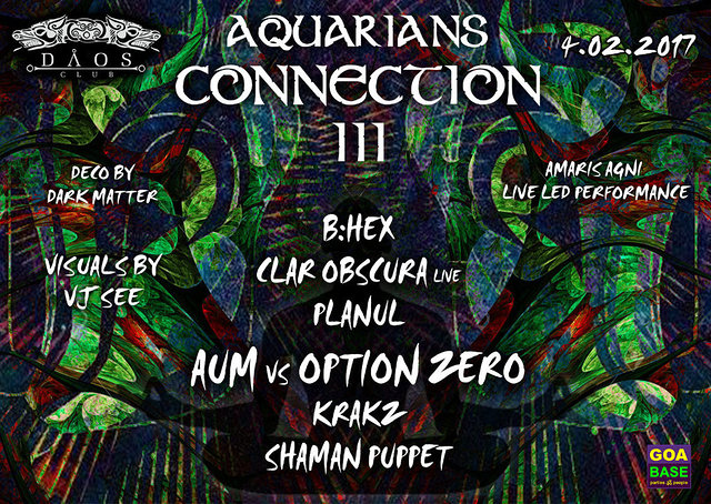 Party Flyer Aquarians Connection 3 4 Feb '17, 22:00