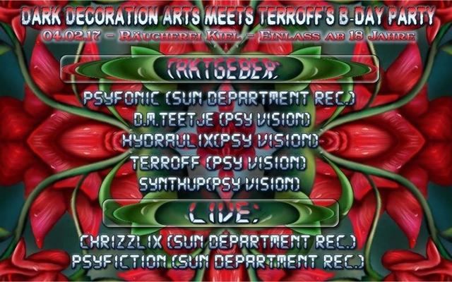Party Flyer DDA meets Terroff s Birthday 4 Feb '17, 23:00