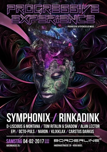 Party Flyer Progressive Experience with Symphonix / Rinkadink 4 Feb '17, 23:00