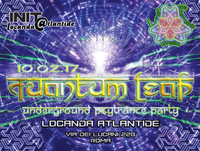 Party Flyer QuAnTuM•LeAp • Psy Trance Underground Party • ROMA 10 Feb '17, 22:00