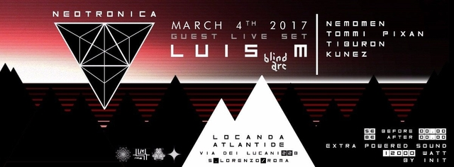 Party Flyer ✦ ✦ NeoTroniCa ✦ ✦ ✦ 4 Mar '17, 22:00