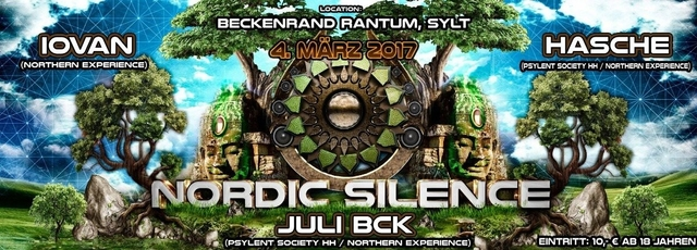 Party Flyer Nordic Silence - IOVAN, Hasche, Juli Bck 4 Mar '17, 23:00