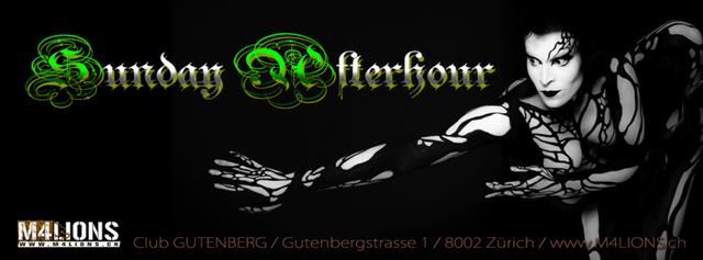 Party Flyer SUNDAY AFTERHOUR - Club GUTENBERG in Zürich 5 Mar '17, 08:00