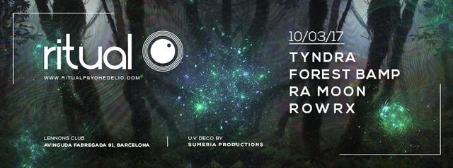 Party Flyer Ritual ( Tyndra live! ) @ Lennon's Club, Barcelona 10 Mar '17, 23:00