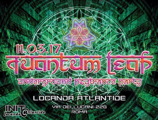 Party Flyer QuAnTuM•LeAp • Psy Trance Party • ROMA 11 Mar '17, 22:00