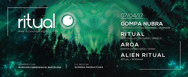 Party Flyer Ritual @ Lennon's Club, Barcelona 7 Apr '17, 23:00