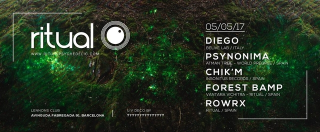 Party Flyer Ritual @ Lennons Club, Barcelona 5 May '17, 23:30