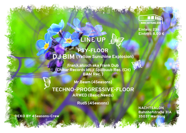 Party Flyer 4 SEASONS EVENTS present SPRING with DJ BIM 20 May '17, 23:00