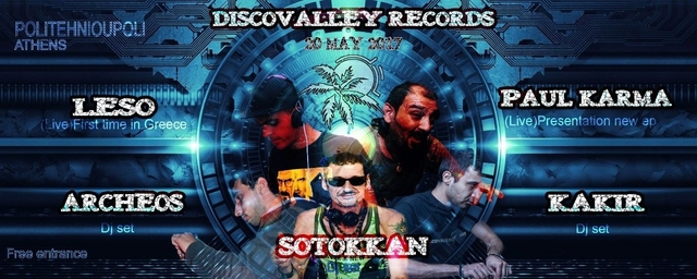 Party Flyer Discovalley Records Label party 20 May '17, 22:00