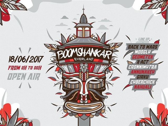 Party Flyer BoOMshankar Ever Land 18 Jun '17, 08:00