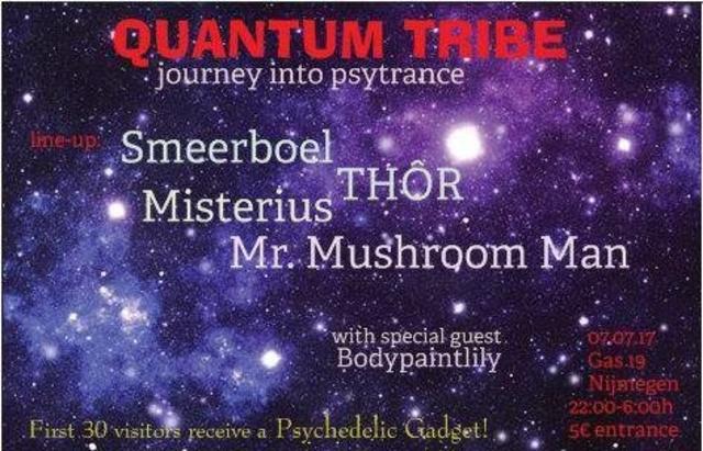 Party Flyer Quantum Tribe (journey into psytrance) 7 Jul '17, 22:00