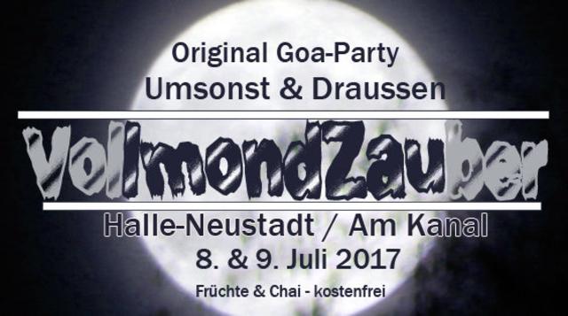 Party Flyer VollmondZauber (original Goa open air) 8 Jul '17, 15:00