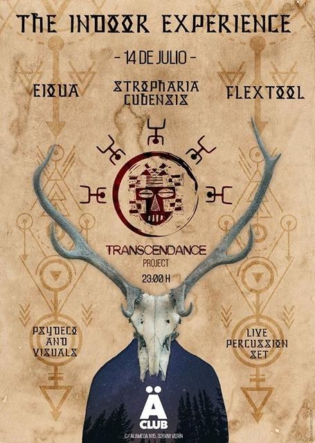 Party Flyer TranscenDance Project pres. Eioua, Flextool, Stropharia Cubensis 14 Jul '17, 23:00