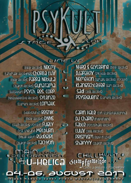 Party Flyer PSYKULT@Festivalkult U&D 2017 4 Aug '17, 20:00