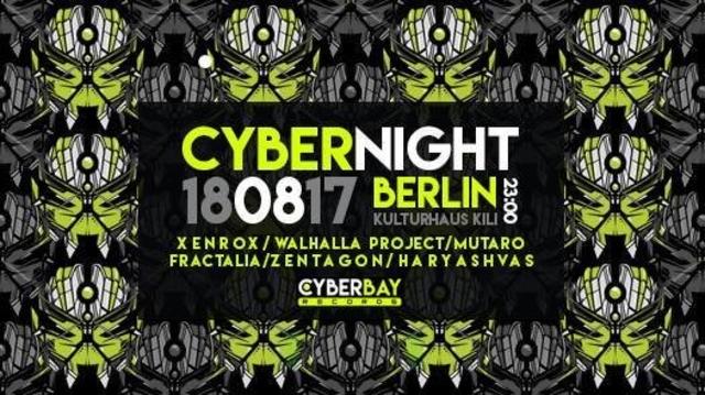Party Flyer Cyber Night -Berlin 18 Aug '17, 23:00