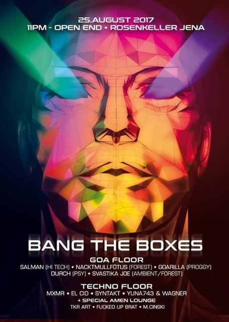 Party Flyer Bang The Boxes 25 Aug '17, 23:00