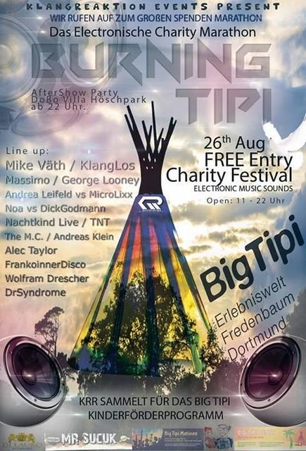 Party Flyer Open Air Charity Marathon mit DJ Mike Väth Klanglos, Massimo 26 Aug '17, 11:00