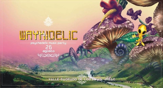 Party Flyer Waykidelic Psychedelic Music Party 26 Aug '17, 21:00