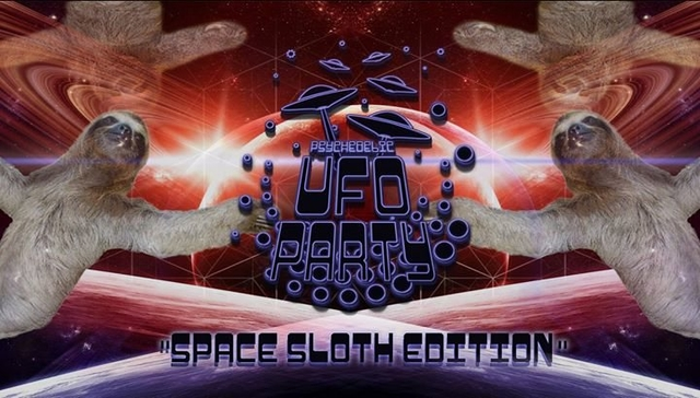 """Psychedelic UFO Party """"Space Sloth Edition"""" 2 Sep '17, 22:00"""