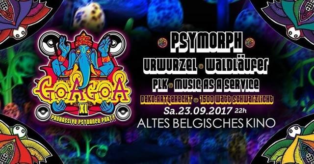 Party Flyer ॐ GoaGoa XL ॐ Psytrance ॐ 1500 Watt Schwarzlicht 23 Sep '17, 22:00