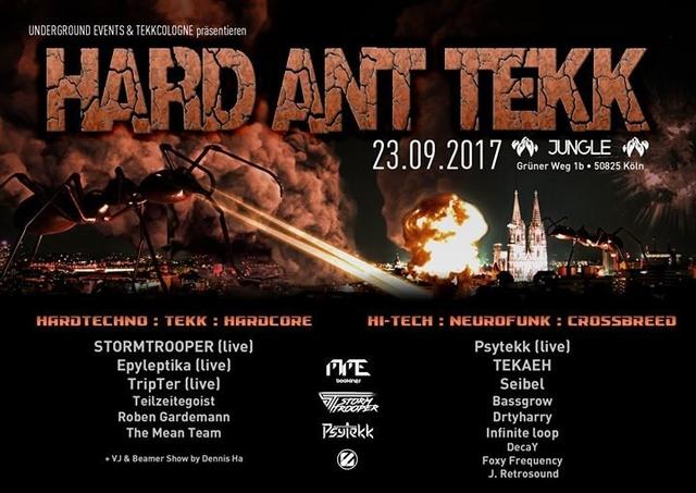 Party Flyer Hard Ant Tekk // Stormtrooper / Epyleptika / Psytekk / uvm 23 Sep '17, 22:00