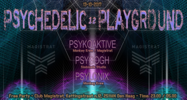 "Party Flyer Monkey Krew presents: ""Psychedelic Playground 12"" 13 Oct '17, 23:00"