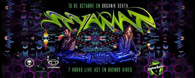Party Flyer Organik Sekta - Tyamat 7hs Live. 13 Oct '17, 23:55