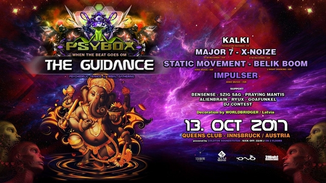 Party Flyer PSYBOX - The Guidance with KALKI - MAJOR 7 - BELIK BOOM - STATIC MOVEMENT ...... 13 Oct '17, 22:00