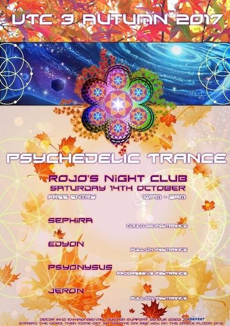 Party Flyer UTC 3 Psychedelic Trance Gathering 14 Oct '17, 22:00