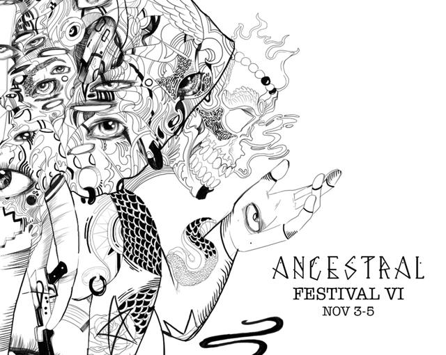 Party Flyer Ancestral Festival VI 3 Nov '17, 22:00