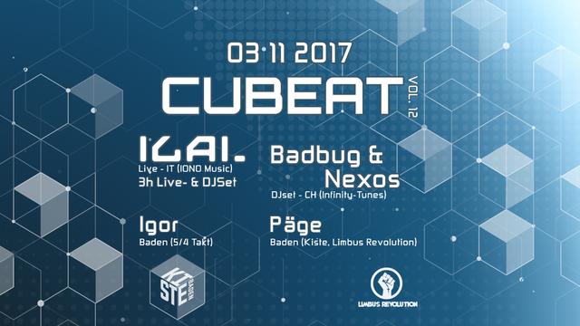 Party Flyer Cubeat Vol. 12 - ILAI Live 3 Nov '17, 23:00