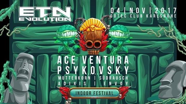 Party Flyer ॐ Evolution Festival ॐ Ace Ventura , Psykovsky uvm. 4 Nov '17, 23:00