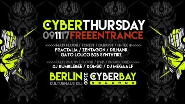 Party Flyer CyberThursday - free entrance 9 Nov '17, 23:00