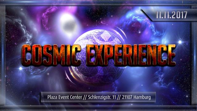 """Party Flyer """"COSMIC EXPERIENCE"""" Egorythmia, Shiva Chandra, Hatikwa, Brox, Necmi, Sirion... 11 Nov '17, 22:00"""