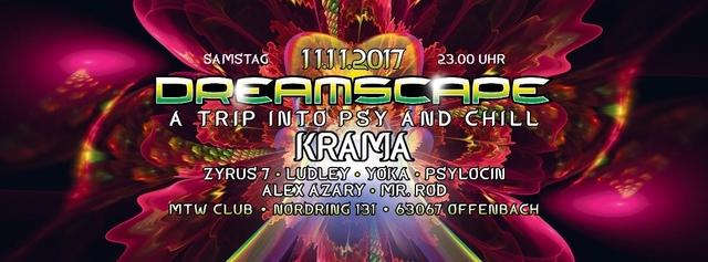 Dreamscape with Krama 11 Nov '17, 23:00