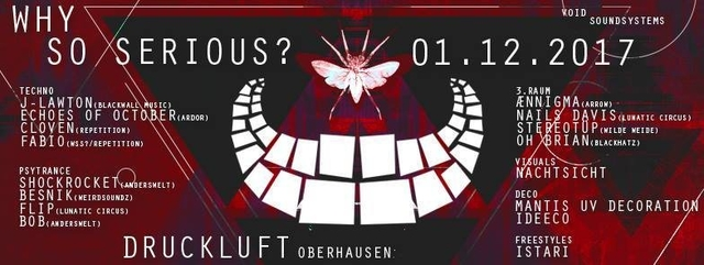 Party Flyer Why so serious? [Techno.Psychdelic Trance. Space] 1 Dec '17, 23:00