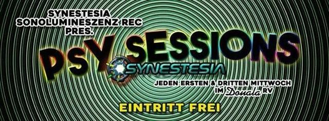 Party Flyer Synestesia & Sonolumineszenz: Psychedelic Sessions - Eintritt frei ! 6 Dec '17, 22:00