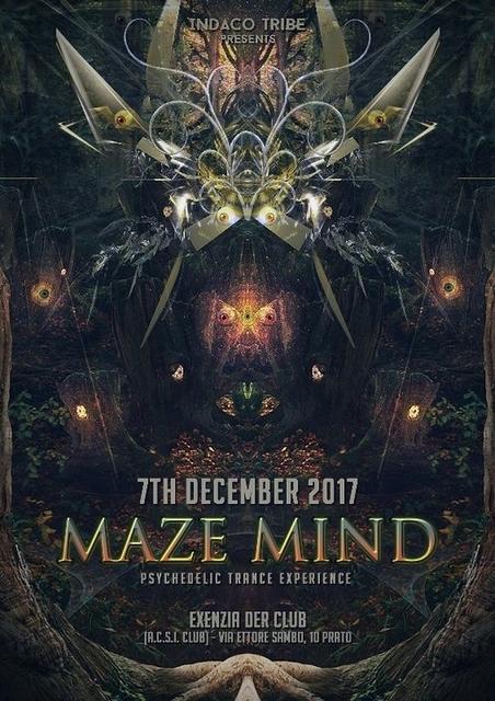 Party Flyer MAZE MIND [ DRIP DROP - RIDDEN - DELIRIUM TREMENS ] + After 7 Dec '17, 23:00