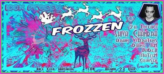 Party Flyer 100% Proggy - Frozzen - 2h Shiva Chandra Live! 8 Dec '17, 23:00