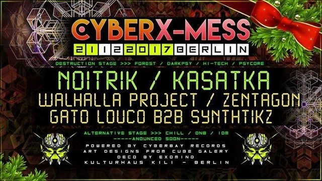 Party Flyer Cyber X-Mess 2017 Edition 21 Dec '17, 23:00