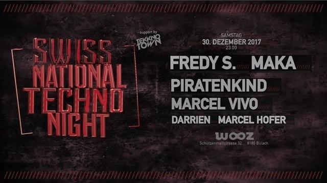 Party Flyer Swiss National Techno Night 30 Dec '17, 23:00