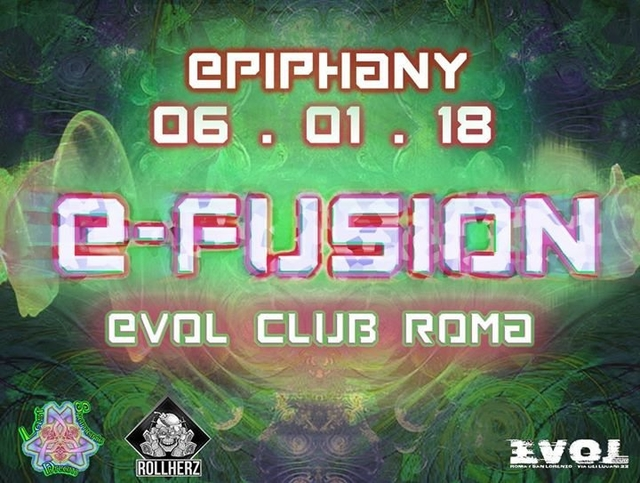 Party Flyer E•FuSiOn - from Psy Trance to Acid Techno 6 Jan '18, 23:00