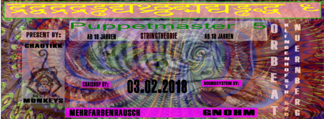 Puppetmaster 5: String Theories 3 Feb '18, 23:00