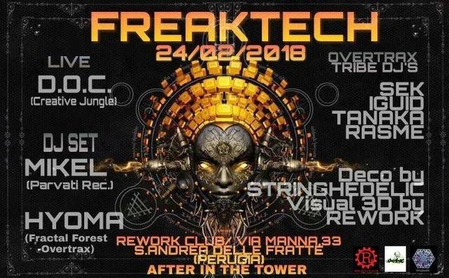 Party Flyer Freaktech 24 Feb '18, 22:00